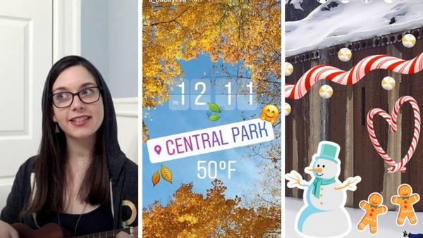 Instagram implementó stickers navideños y un nuevo modo para filmarnos con más facilidad.
