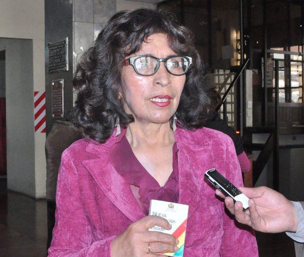 Angélica Siles, exconstituyente del Movimiento sin Miedo.