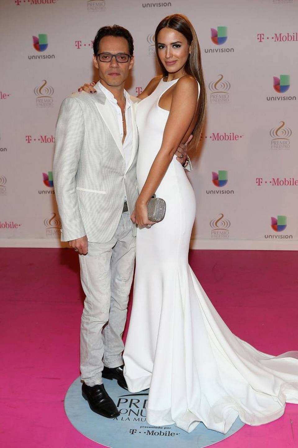 Marc Anthony y Shannon De Lima en Miami, Florida.