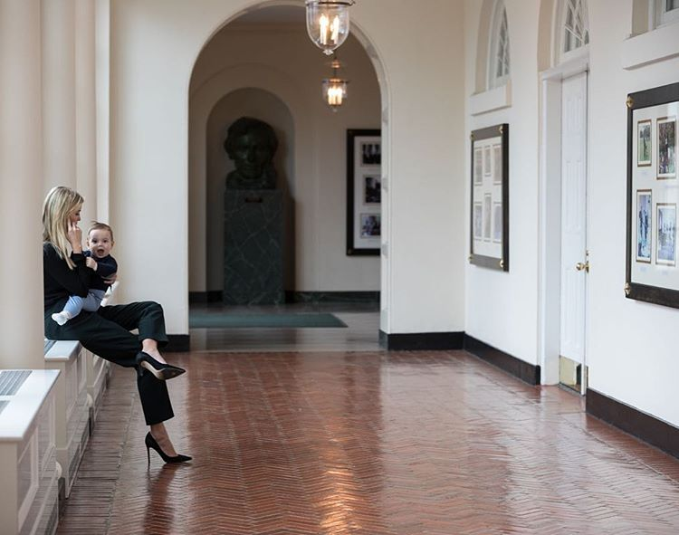 Taking a call in the White House with my personal assistant Theodore. ❤