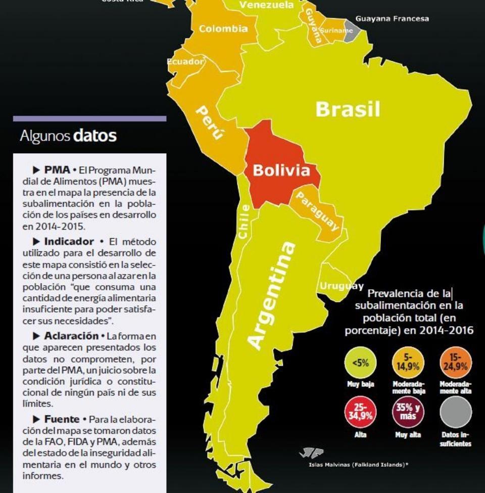 Mapa Del Hambre 2017.Bolivia Aun Padece Hambre Y Pobreza Segun Organismos Eju Tv