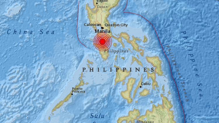 Un sismo de magnitud 5,2 sacude la capital de Filipinas