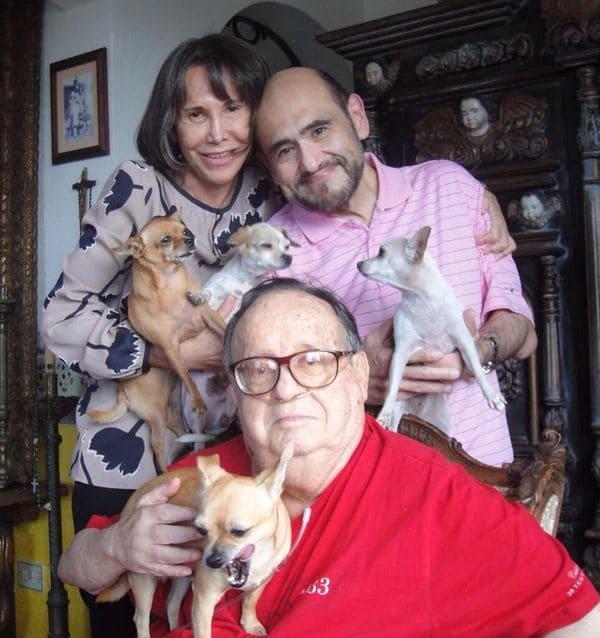 Edgar Vivar con Florinda Meza y el fallecido Roberto Gomez Bolaño