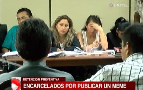 """De espaldas a la cámara los detenidos por la publicación de """"memes"""""""