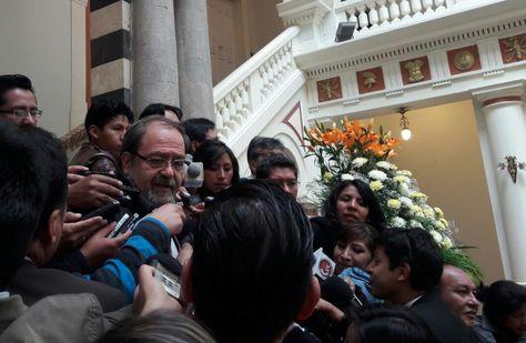 El ministro de Eduación, Roberto Aguilar, en rueda de prensa este miércoles.