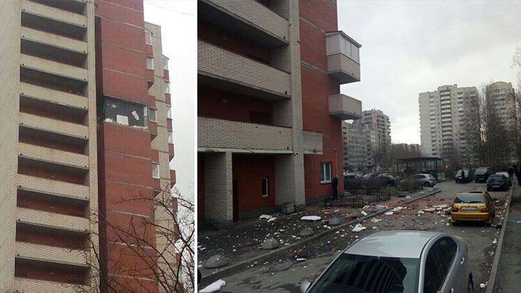 Evacuan a los residentes de una vivienda de San Petersburgo tras caerse una pared