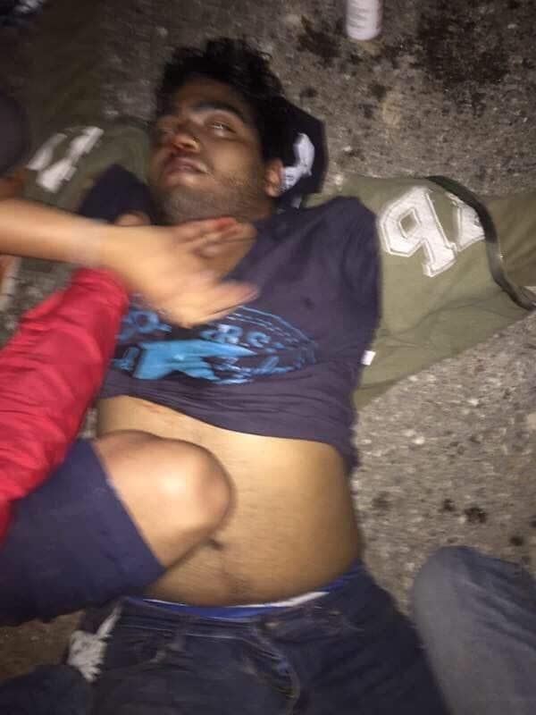 Jairo Ortiz tras el balazo, en una foto difundida en Twitter