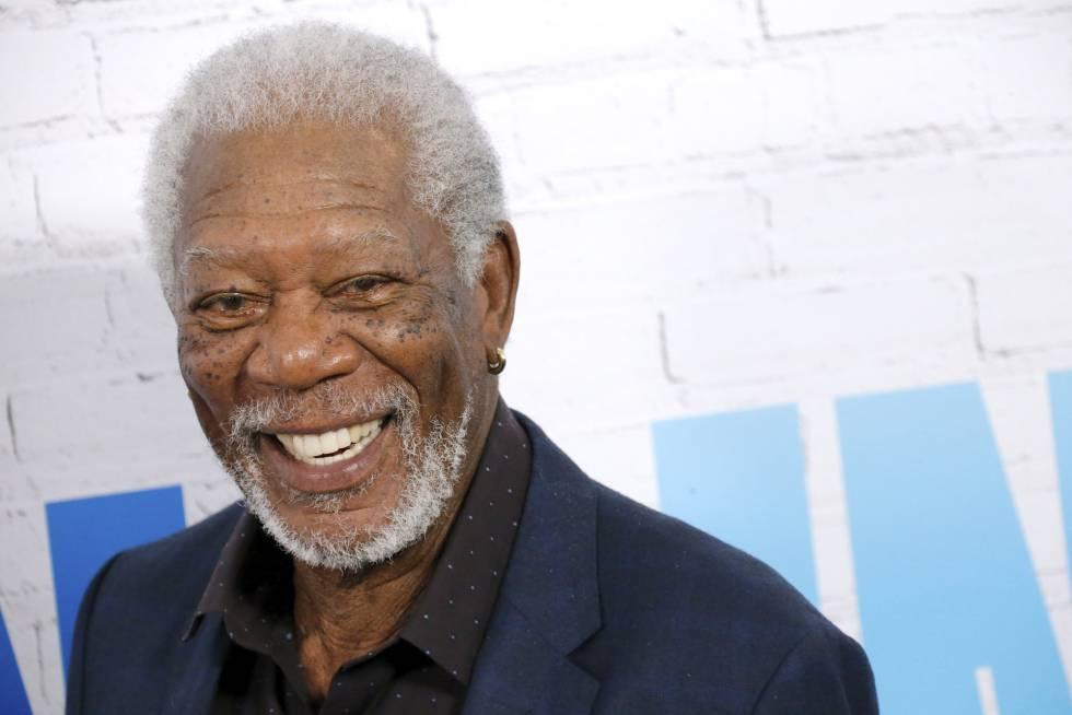 El actor Morgan Freeman en el estreno de