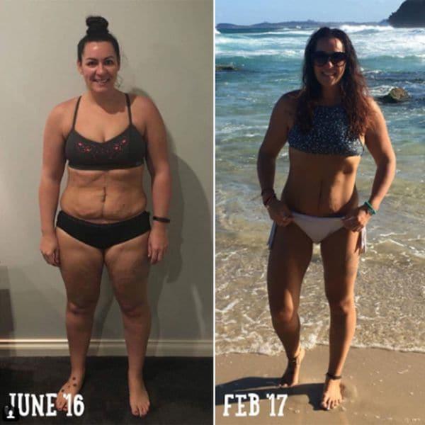 """El """"antes y después"""" desafortunado que publicó Cosmopolitan para promocionar un sistema de dietas para perder kilos. La mujer padecía cáncer (Instragram)"""
