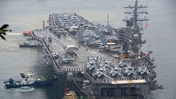 Un portaaviones de la clase Nimitz, como el George H. W. Bush que opera en el Golfo Pérsico (AP)