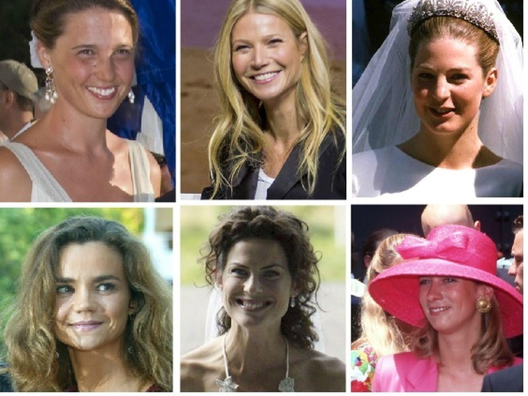 Victoria de Borbón, Gwyneth, Tatiana, Vicky, Anna y Carolina (izda a dcha.)