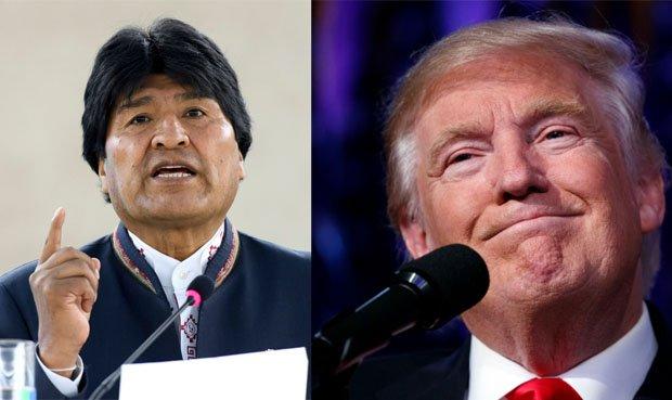 Evo Morales y Donald Trump Foto: composición