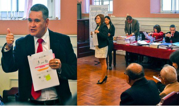 Audiencia judicial en la que a Eduardo León se lo liberó de la detención preventiva que cumplía en la cárcel de San Pedro.