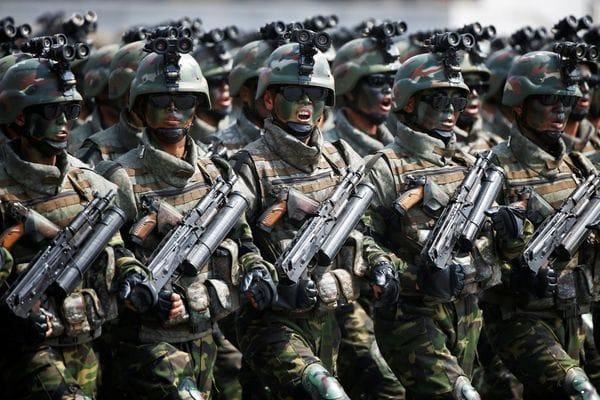 Las famosas fuerzas especiales del régimen, que en el pasado han realizado acciones temerarias en Corea del Sur (Reuters)