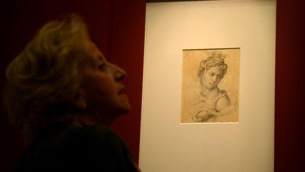 """""""Cleopatra"""", otro de los dibujos de la exposición (AFP)"""