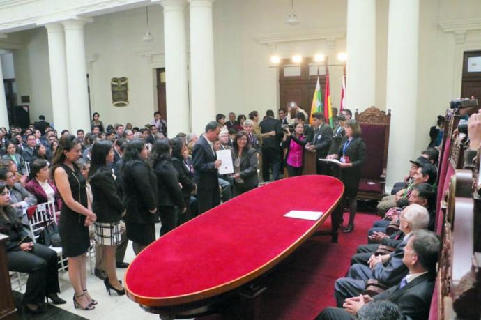 ACTO. El cierre de gestión y egreso de los jueces se realizó en el Tribunal Supremo de Justicia.