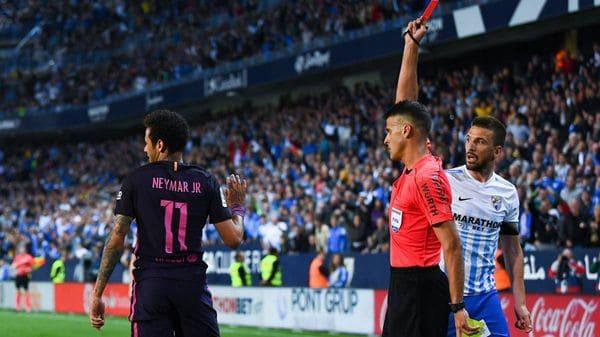 Fue expulsado contra el Málaga