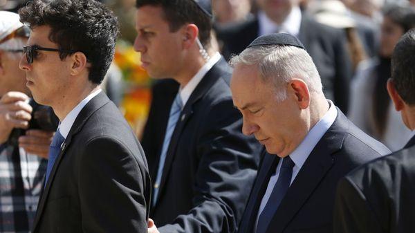 El primer ministro Benjamin Netanyahu durante la ceremonia (AFP)