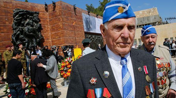 Veteranos de la Segunda Guerra Mundial en el museo del Holocausto Yad Vashemen Jerusalén (AFP)