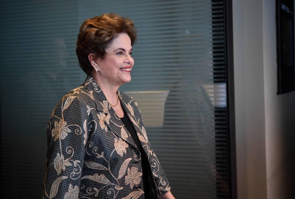 Dilma Rousseff, este lunes, en Ciudad de México.