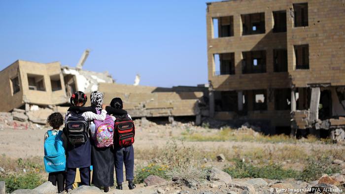 Jemen Leid der Kinder (Getty Images/AFP/A. Al-Basha)