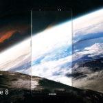 Biseles del panel OLED del Samsung Galaxy Note 8