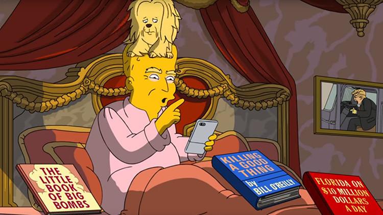 Así ven 'Los Simpson' los primeros 100 días de Trump en la Casa Blanca (VIDEO)