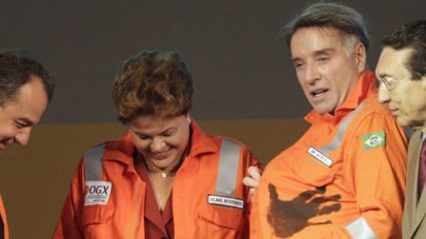Dilma Rousseff junto a Batista en un acto político (Reuters. Archivo)