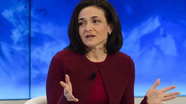 Sandberg durante una de sus presentaciones como número dos de Facebook.