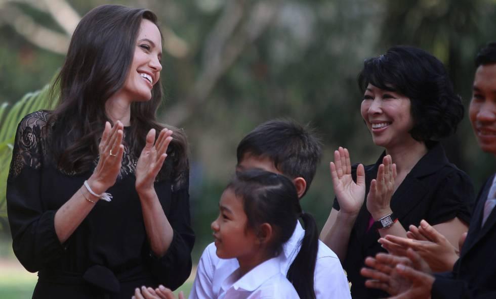 Angelina Jolie, en Camboya.