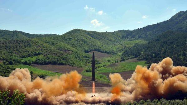 Ensayo misilístico de Corea del Norte. (Reuters/KCNA)