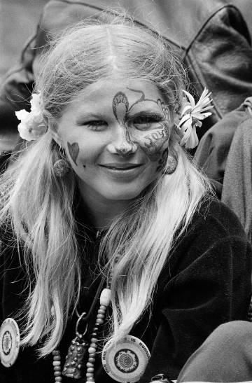 La joven Judy Smith, en el parque Golden Gate, de San Francisco, el 21 de junio de 1967.