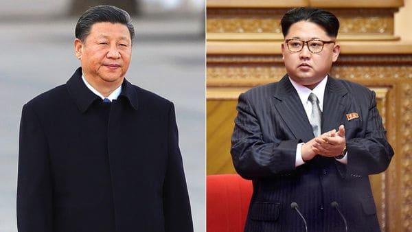 El presidente chino Xi Jinping y el líder de Corea del Norte, Kim Jong-un