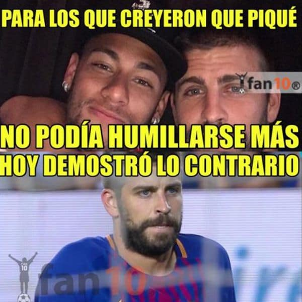 Cristiano Ronaldo y Piqué, los apuntados en los memes post clásico español