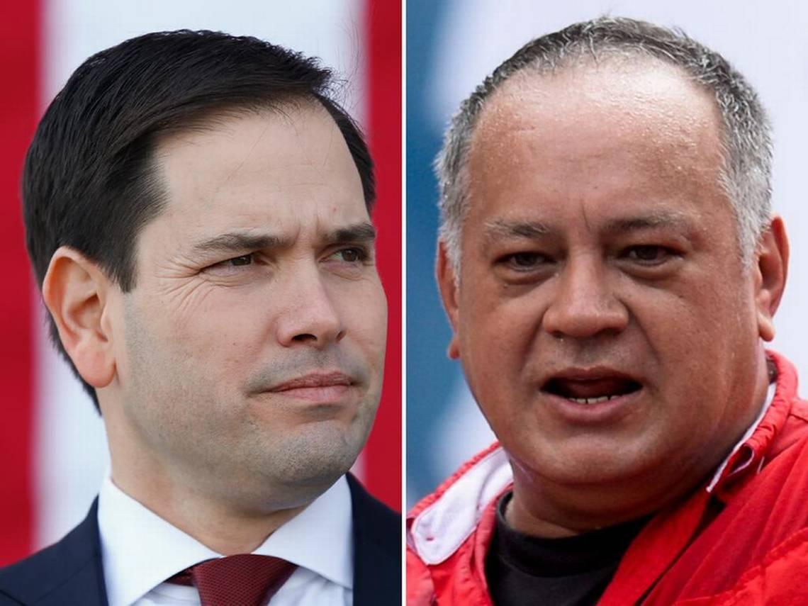 El senador Marco Rubio y el considerado número 2 del chavismo, Diosdado Cabello.