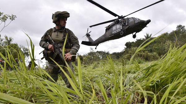 El operativo tuvo lugar en los departamentos de Córdoba, Antioquia y Chocó (AFP)