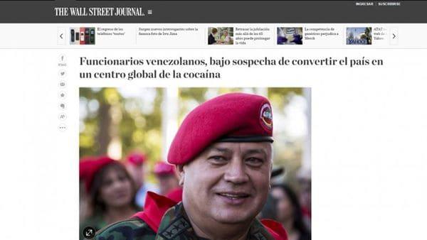 La nota del Wall Street Journal sobre los vínculos de Diosdado Cabello con el narcotráfico