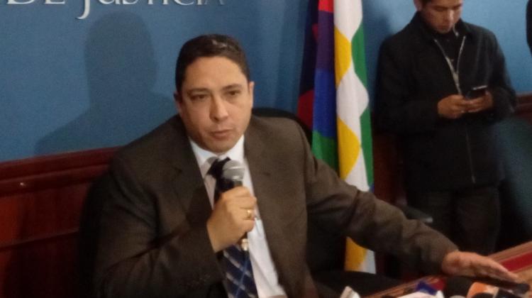 Resultado de imagen de El ministro de Justicia, Héctor Arce