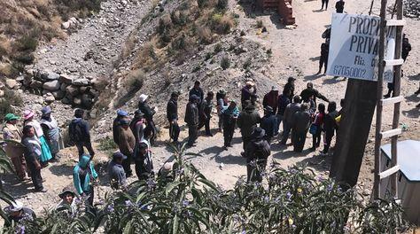 Un grupo de vecinos intentó tomar un predio destinado para los buses Pumakatari en Kalajahuira. (Foto: GAMLP)