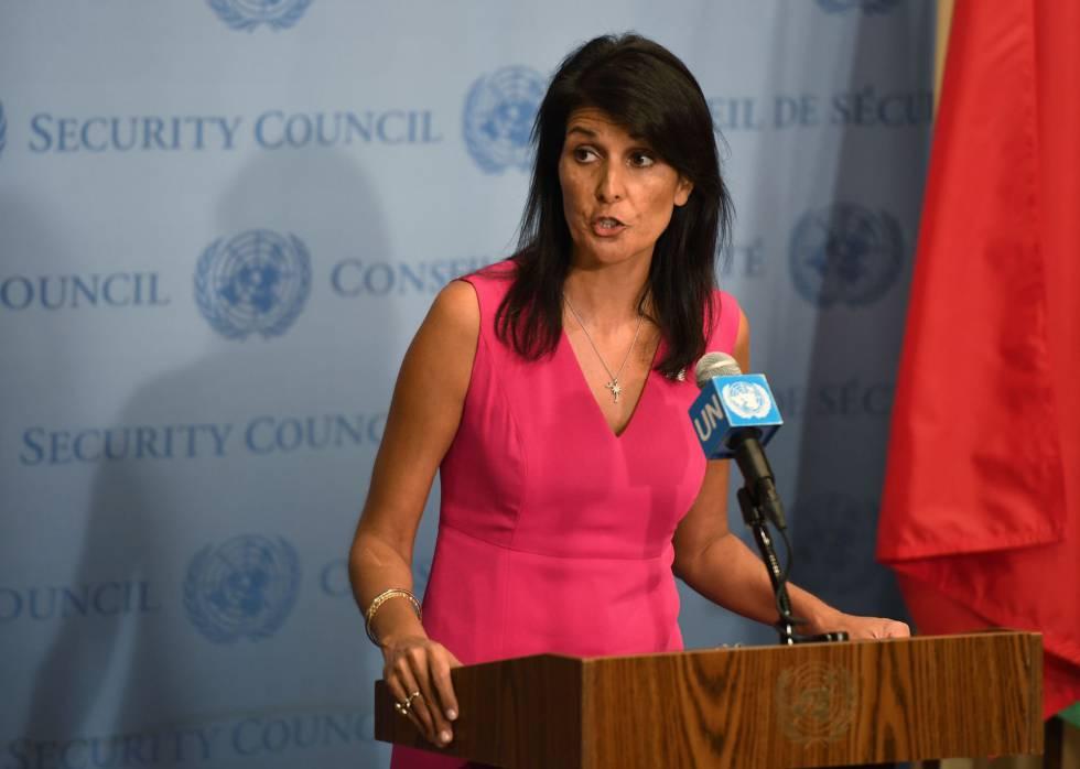 Nikki Haley, embajadora de Estados Unidos ante la ONU.