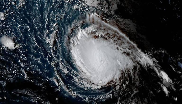 Esta imagen obtenida de la Administración Nacional Oceánica y Atmosférica muestra el huracán Irma el 4 de septiembre de 2017.