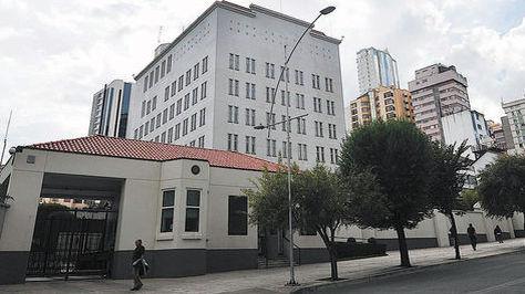 La embajada de Estados Unidos en la avenida Arce de La Paz.