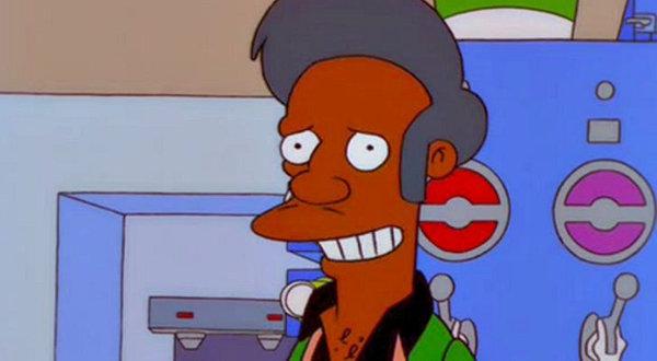 """El saludode Apu en su Kwik-E-Mart, """"Gracias, ¡vuelva pronto!"""", fue un meme verbal. (Fox)"""