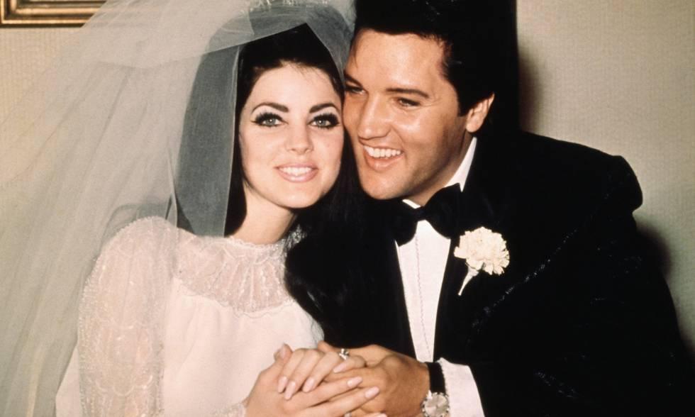 Priscilla Ann Beaulieu y Elvis Presley, el día de su boda, el 1 de mayo de 1967.