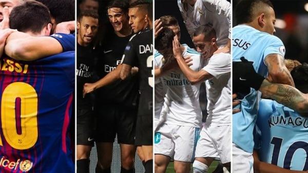 Barcelona, PSG, Real Madrid y Manchester City entre los 16 equipos finalistas