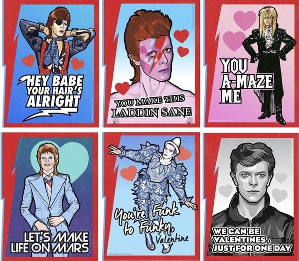 Algunos de los modelos inspirados en David Bowie