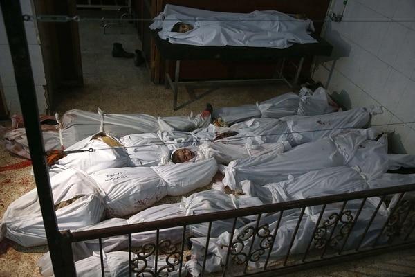 Muertos durante el ataque aéreo sobre Guta Oriental (AFP)