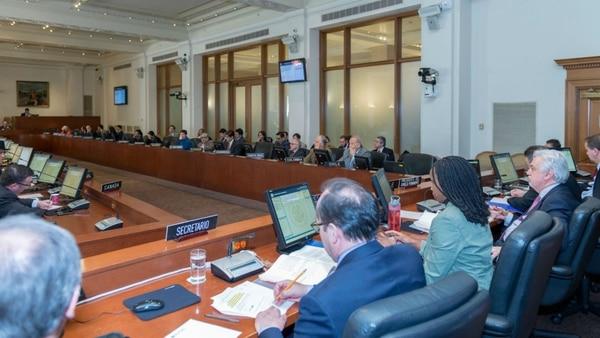 Una sesión del Consejo Permanente de la OEA en Washington, Estados Unidos (@OEA_oficial)