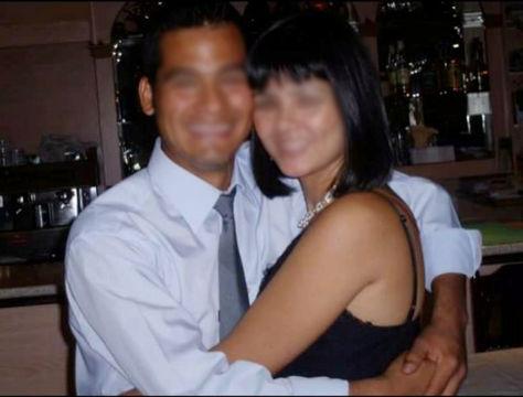 Víctor junto con una de sus hermanas antes de ser deportado de España.