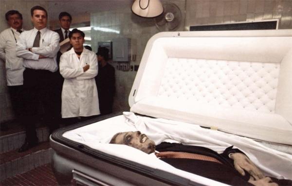 Su certificado de defunción, en el hospital Santa Mónica, estaba con el falso nombre Antonio Flores Montes